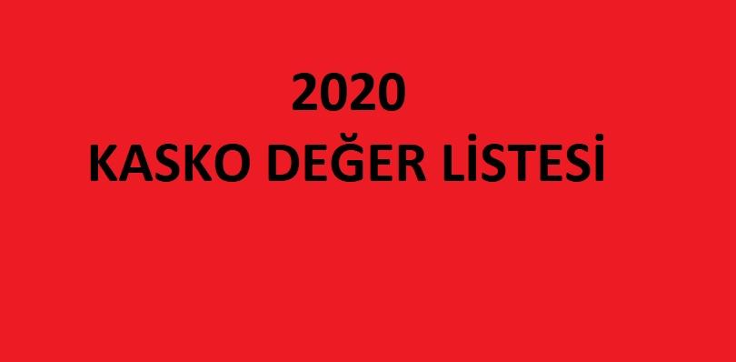 Kasko Değer Listesi nasıl belirleniyor?